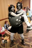 ABC3: Equius + Aradia cosplay by BeinCraban