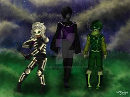 Minecraft Humanized! Skeleton, Enderman, Creeper! by YamiTasher