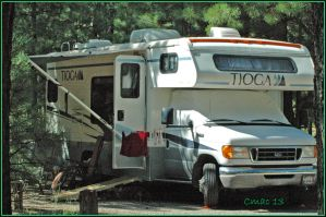 RV-camping set-up by Cmac13