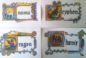 Mythical Creatures Set by hollyann