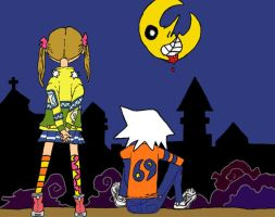 Maka and Soul- Death City by BloomerwillRule