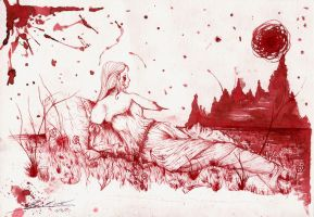 Lady of Dragon Blood by thanamosity