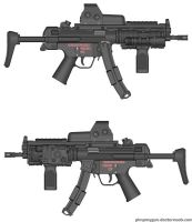 Splitjaw USMC H K MP5 RAS by HuntraG94