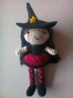 little witch amigurumi by adorablestejidos