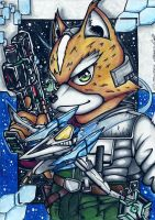 fox with his arwing by I-CyBeR-NeTiCs-I