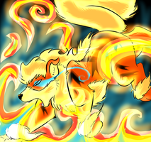 Godric used Flame Blitz by StormyTiger