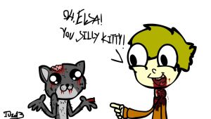 Elsa The Silly Zombie Kitty. by combine345