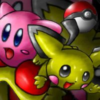 Kirby and Pichu by SootToon