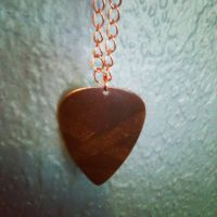Natural Brass Guitar Pick-pure copper necklace by hiddenhearts3