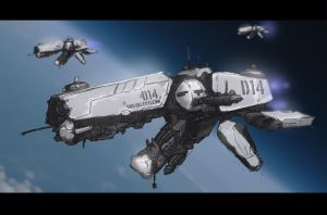 Space Ship a Day 001: Bull Dog Class Destroyer by McKiller