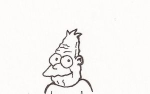 Day 22: Grampa Simpson by rai-kami
