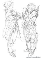 :sketch: kenway and son by ufficiosulretro