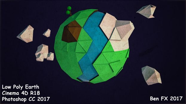 Low Poly Earth by BenC4D
