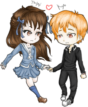 Commish: Tohru and Kyo by Triple-A-XD-XP