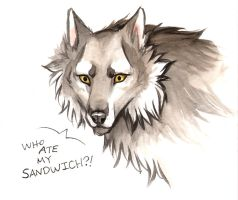 Watercolor Sketch_Wolves by jessielp89