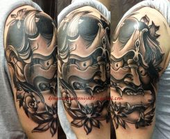 Tattoo - Hannya mask by Xenija88