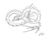 Sea Serpent Lineart (Photoshop cs2) by Rainsworld47