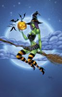 Wizard World Ohio 2014 Exclusive Witch pinup by seanforney
