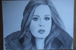 Adele pencil sketch by Gabgab3010