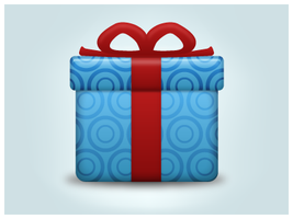 Gift Icon by customicondesign