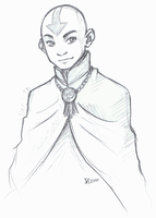 Older Aang by Fenchan