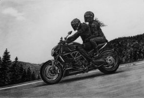 Ducati Diavel by long-haired-lady