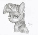 Twilight Is Unimpressed With Me by KuroiTsubasaTenshi