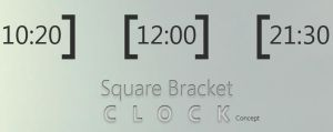 Square Bracket Clock Concept by MJ-lim