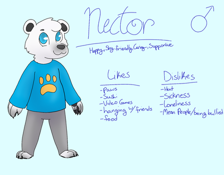 Nector Ref. (For RealToyBonny) by TheEpicWingedWolf
