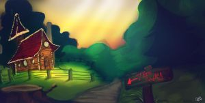 Black Aliss' Cottage by rogueXunited