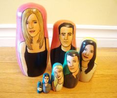 Friends Nesting Dolls by bachel60
