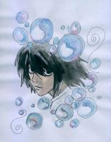 L with bubbles by Szeriana