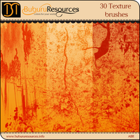 30 Texture Photoshop brushes by BuburuResources