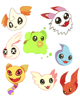 Baby Digimon by LizardonEievui13