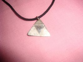 Zelda Triforce Necklace by medli96