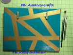 Teal and gold photo holder. by aradevon