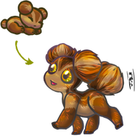 Chestnut Asteroid Puppy Adopt for TheBloodBrothers by Jesseth