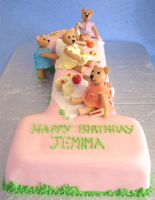 Teddy's Picnic Cake by ginas-cakes