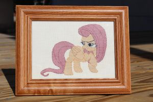 Evil Fluttershy Cross Stitch by neila-nuruodo