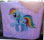 MLP Rainbow Dash Quilt by kyoukenbyou