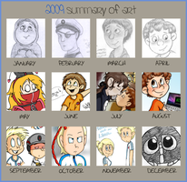 Art Summary '09 by VinDeamer