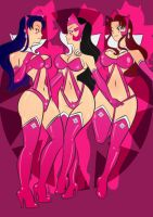 Star sapphire and Starfire and Blackfire by Pronon1990