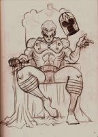 Magneto on Throne by Lorredelious