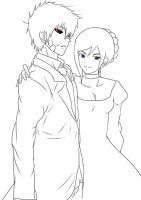 CM and Gift: servant boy :lineart: by BladeOfValhalla