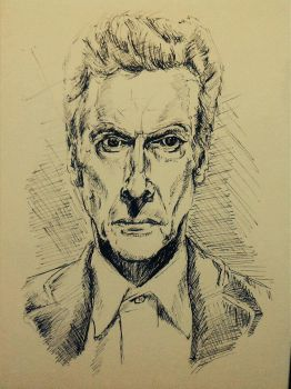 Peter Capaldi 12th Doctor Sketch by CPD-91