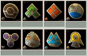 Pokemon Gym Badges 3D - Sinnoh League by robbienordgren