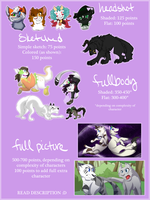 Commission Prices 2015 [OPEN] by Waterbender-Jay