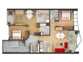 3D floorplan 02 by Dibujocad