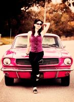 Pin up Mustang by Jimelow