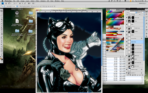 CATWOMAN WIP IV - COLOR by mvitacca
